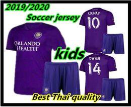Orlando fußball jersey online-New Kids Kit MLS 2019 2020 thailand Qualität Orlando City Fußball Jersey 19 20 Jungen KAKA DWYER COLMAN Trikots Hemden