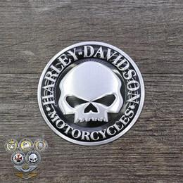 adesivo per ruote toyota Sconti Serbatoio carburante metallo 3D Logo Adesivo decalcomania Automobile Leone Teschio Moto Accessori Decorazione auto Distintivo dell'emblema Gas universale per Harley
