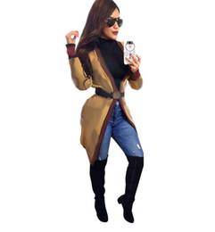 2020 ropa de diseñador damas Las mujeres del diseñador de moda de abrigo rojo de la raya verde para mujer chaquetas de señora Loose Cardigan Chaqueta Ropa Primavera ropa de diseñador damas baratos