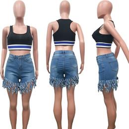 2019 biker tragen Plus Size Frauen Casual Denim Shorts Elastische Hohe Taille Sexy Kurze Jeans Damen Sommer Street Wear Hiphop Hot Pants Biker Shorts S-3XL A52002 rabatt biker tragen