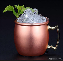 Tazze semplici online-Nuovo arrivo Moscow Mule Copper Mug 95ML Mini 304 Stainless Steel Cocktail Cup Semplice durevole Multi Function 9 8cs F1