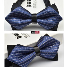Brand New Blue Classic Checked Tuxedo Adjustable Fashion Bow tie for Boys B1182
