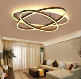 Plafonniers modernes LED Ellipse Anneaux Lustre Corps De Fer Éclairage Pour Le Salon Salle À Manger Décor À La Maison Appareils ? partir de fabricateur