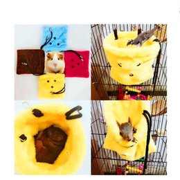 cartoon rats Coupons - Pet Keep Warm Sleeping Bag Hamster Guinea Pig Parrot Cotton Nest Portable Winter Supplies With Yellow Red Blue Color 7 5sca J1