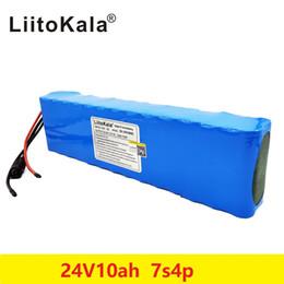 Batterie per biciclette elettriche online-Liitokala DC 24V 10Ah 18650 batteria al litio della batteria 29.4V bicicletta elettrica Ciclomotore / pacco batterie agli ioni elettrica / litio