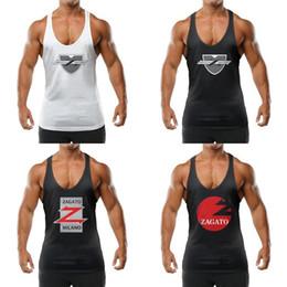 2019 верховая езда Мужчины Racerback Tank Top дышащих блузы Zagato автомобиль логотип скидка верховая езда