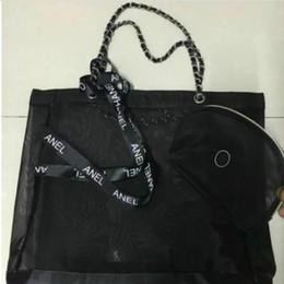 Sac de rangement de ruban en Ligne-Sac à provisions grande capacité en maille de haute qualité / envoi de sac à main trompette et ruban ensemble / sac à linge, sac de rangement pour sac de plage, cadeau VIP