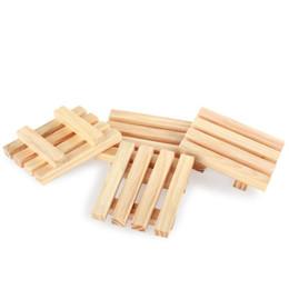 Sapone lavaggio piatti online-Portasapone a secco Portasapone in legno naturale Piatto doccia in pino naturale Sapone per il bagno