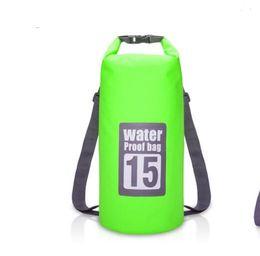 Canada 5L / 10L / 15L / 20L Sac de rangement sec de sacs de rangement imperméable pour Canoë Kayak Rafting Sport de plein air sacs de voyage Kit de voyage Sac à dos Offre