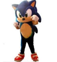 Terno sônico on-line-2018 Venda direta da fábrica Sonic the Hedgehog traje da mascote tamanho adulto azul Knuckles Sonic the Hedgehog Suit Mascotte Outfit