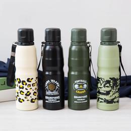 Canada Alpinisme bouteille de sport 500ML camouflage en acier inoxydable ballon sous vide sports de plein air tasse camping usine supplier camouflage water bottle wholesale Offre