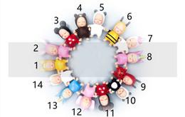 Types de poupées en Ligne-14 types New Mini sommeil bébé porte-clés pendentif pendentifs porte-clés de voiture clés ornements sacs ornements pendentif 9cm poupée porte-clés jouets pour enfants L