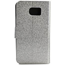 S6 блеск онлайн-Роскошный блестящий блестящий флип PU кожаный чехол обложка бумажник карты держатель для Samsung Galaxy S6 G9200