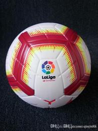 football première ligue Promotion Ligue des champions 2019 Taille 5 Ballons de soccer Ballon de haute qualité, beau match Liga Premier 18 18 ballons de football (Expédiez les ballons sans air)