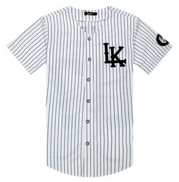 2019 camisas do rei do algodão Verão Camisas Da Listra Branca Jersey Último Rei LK Hip Hop Homens Mulheres Casais Camisas de Algodão Ativo Tees Plus Size M-XXL camisas do rei do algodão barato