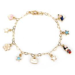 Meninas gato japonês on-line-Linda menina gato estrela flor de cerejeira monte fuji charme pulseiras japonês flor de cerejeira pulseira pulseira para mulheres presentes feminino