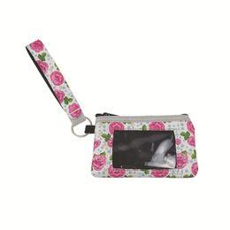 Bolsa de neopreno creativa Bolsillo de bolsillo para mujer Mini billetera para mujer Bolso colgante Monedero Impermeable Caja de tarjeta de identificación de crédito con cordón desde fabricantes