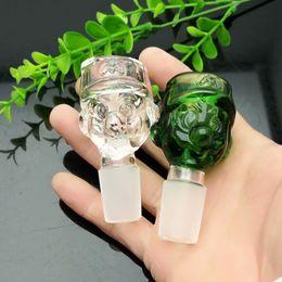 Convertidor verde online-Green Cartoon Graphic Glass Converter Bubble Head Gran Pyrex Glass Oil Burner Pipe Plataformas petroleras gruesas de vidrio tubo de agua