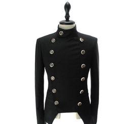 Vestiti unici adatti online-Casual Slim Fit Giacca Vestito degli uomini di nuovo arrivo unici Mens Blazer giacca doppiopetto da uomo