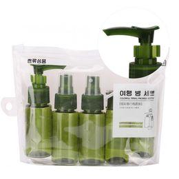 Contenitore vuoto del tubo gel online-7pcs shampoo da viaggio portatile doccia gel lozione spray bottiglia di stoccaggio contenitori vuoti imposta vuoto bottiglia lucidalabbra bottiglia di profumo