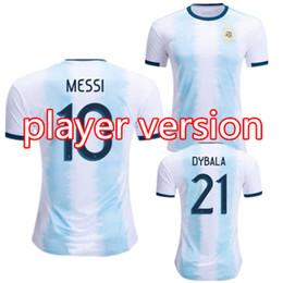 oro di maria Sconti Versione giocatore Maglia da calcio Argentina casa 2019 2020 Coppa oro MESSI AGUERO DYBALA HIGUAIN ICARDI DI MARIA maglia da calcio camiseta