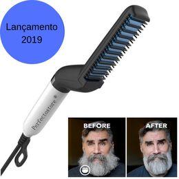Raddrizzare la spazzola online-raddrizzatore per barba pettine per raddrizzamento pettine rapido per uomini mini pettine per barba barbo umido Uomini barba per raddrizzatore escova de cabel