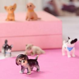 2019 cane gatto in pvc mostro uovo stampato a iniezione giocattolo cartone animato potente ventosa di bambola in plastica animale in miniatura da