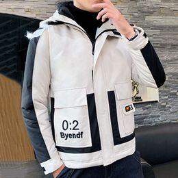 2020 giacche invernali di corea mans Rivestimento del nord inverno degli uomini di spessore Parka Corea nuovo stile di alta qualità Maschio all'aperto volto a freddo con cappuccio Giacche cappotto Bomber più il formato 4XL giacche invernali di corea mans economici