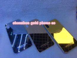 2019 iphone boîtier plaqué or pour iphone X 8mu logement plaqué or véritable avec remplacement de porte de batterie à cadre en métal avec édition goldco dubai iphone boîtier plaqué or pas cher