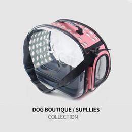 moda pet sacos de transporte Desconto Portátil Completa transparente pet bag gaiola de estimação cão respirável pet quente moda conveniente pacote dog carrier dog suprimentos