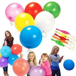nouveauté jouet grossistes Promotion Ballons Punch Élastiques Bounce Floating Balloon Fête De Noël Jouets Jeux Jouet Coloré Latex Matériel Livraison Gratuite