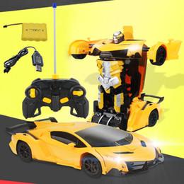 2019 modello freddo ragazzo 1/12 RC Trasformazione auto Robot Veicolo sportivo Modello Robot Giocattoli Cool Deformation Car Kids Toys Regali per ragazzi Bambini modello freddo ragazzo economici