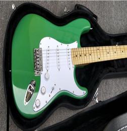 2019 électrique réel Vente chaude usine st guitare électrique surf vert vraie guitare photos 22 frettes érable touche gros livraison gratuite électrique réel pas cher