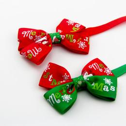 forniture di bowtie Sconti Articoli per animali domestici all'ingrosso Gatti regolabili Cravatta per cani Fiocco di neve Decorazione natalizia Cravatte natalizie Cravatte Cani Bowtie DH0530