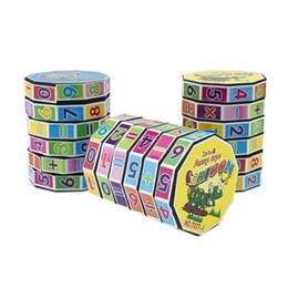 giocattolo del treno dhl Sconti Plastica Digital Magic Cube Kids Cylinder Matematica Addizione Sottrazione Calcolo Giocattolo da allenamento per bambini Giocattoli educativi precoce DHL FJ324