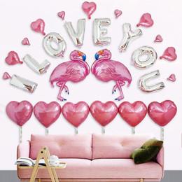 decorazioni di proposta Sconti Wedding confession alluminio film palloncino set matrimonio scena layout decorazione della stanza proposta matrimonio matrimonio San Valentino palloncino