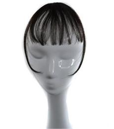 2019 frange de cheveux humains Sara Femme Filles Clip Dans Shuangbin Cheveux Bang 100% Clip de Cheveux Humains En Frange Devant Bang Extension Clip dans Pièce De Cheveux 3 * 14CM promotion frange de cheveux humains