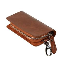 auto münzenhalter Rabatt Mode leder brieftasche auto schlüsselanhänger münzhalter haken reißverschluss fall mini tasche