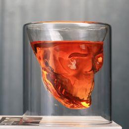 Yaratıcı Bar Parti Drinkware Kafatası Şeffaf Şarap Bardağı Kafatası Cam Atış Bira Cam Viski Gözlük Kristal İskelet Su Bardağı DH1158 nereden