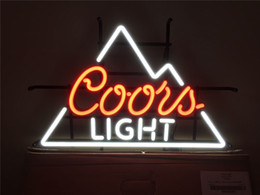 neon beer signs Promo Codes - New Star Neon Sign Factory 17X14 Inches Real Glass Neon Sign Light for Beer Bar Pub Garage Room Coors Light TN526.