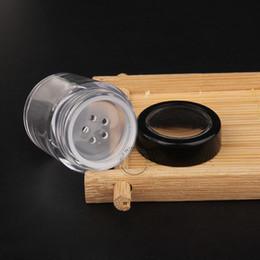 conteneurs de poudre en gros Promotion En gros 10g de haute qualité en plastique transparent pot de poudre avec couvercle à vis vide PS contenants cosmétiques contenant de la boîte de pot 80pcs / lot