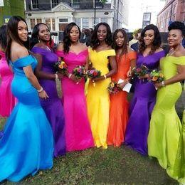 Vestidos de color coral online-Vestidos de dama de honor de color 2019 Estilo africano barato para la dama nigeriana Vestidos de honor Más el vestido de boda del huésped del tamaño BC2109