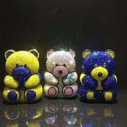 2019 carteiras femininas ursos Múltipla forma de Urso Lady Party Sacos De Noite De Cristal para a menina / mulheres sacos de presente Mini Noite Saco Clutch bolsa carteira para a festa / baile de formatura carteiras femininas ursos barato