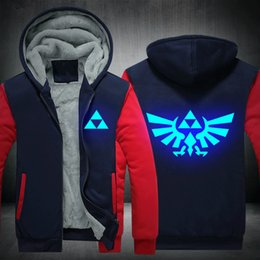 glow dark games Promo Codes - Legend of Zelda Breath of the Wild luminous glow in dark hoodies hip hop Rapper game hooded jacket sweatshirts coat tracksuits