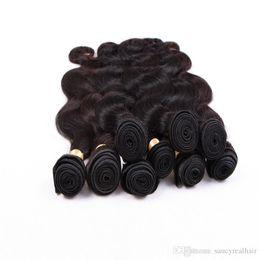 Супер Качество Бразильские Наращивание Волос Натуральный Цвет Перуанский Малайзии Индийский Девы Пучки Волос Объемная Волна Плетение Человеческих Волос, бесплатная DHL от
