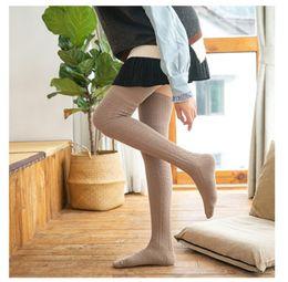 ce945d563ec ladies brown socks NZ - multicolor lady knee-high socks pure cotton long  knee-