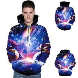 2020 вселенная hoodies Мужская мода Вселенной Толстовки Толстовки 3D Printed Hooded Толстовка Осень Зима Повседневный Galaxy с длинным рукавом пуловер Hoodie Tops дешево вселенная hoodies