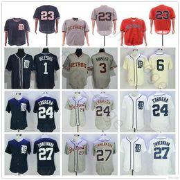 100108662 Stitched Detroit #24 Miguel Cabrera Jersey 1 Jose Iglesias Ian Kinsler 6 Al  Kaline Kirk Gibson 27 Zimmermann Tigers Baseball Jerseys