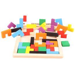 Hot Tetris классические детские пазлы с красочными блоками упражняют логику мышления, подходящую для интеллектуальных игрушек старше 5 лет от