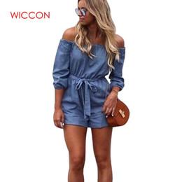 2019 одежда для коротких джинсов Women Clothing 2019 Newest  Women Roupas Femininas Waistband Fashion Solid Strapless Short Jeans Trousers Casual Jumpsuit дешево одежда для коротких джинсов